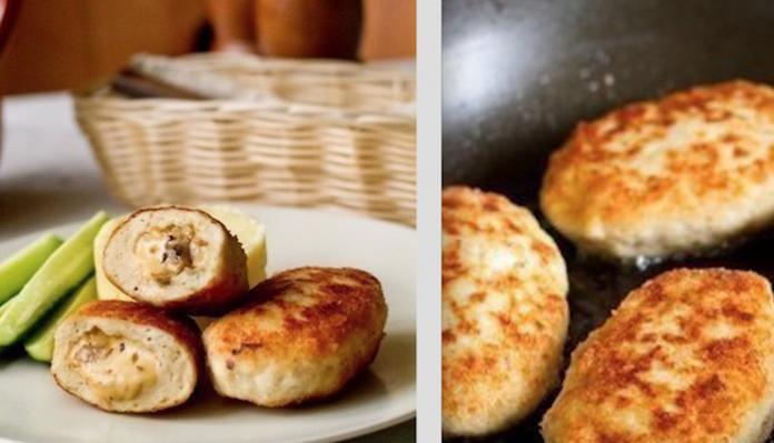 Закатим пир на весь мир: Куриные котлеты с грибами и сыром