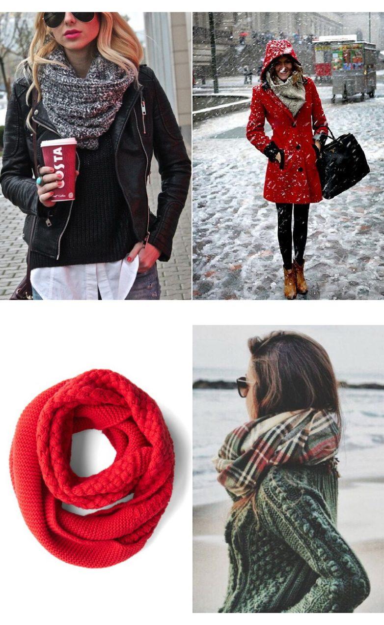 Как правильно носить шарф-трубу