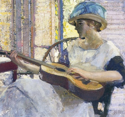 m Richard Edward Miller (American painter, 1875-1943) The Artist's Daughter (400x374, 177Kb)