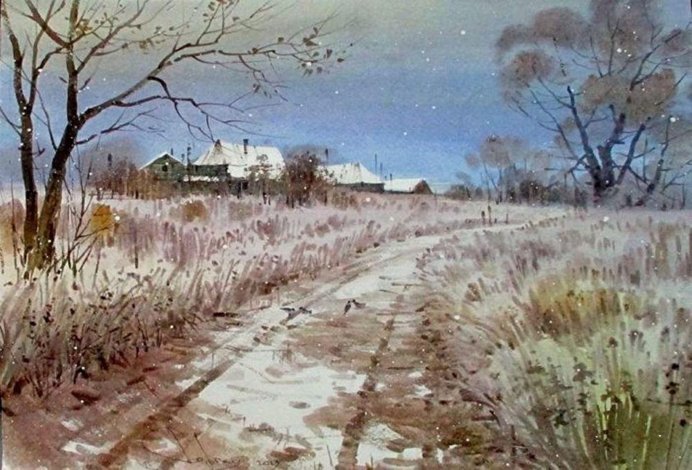 Акварельные пейзажи художника Ильи Горгоца, фото № 27