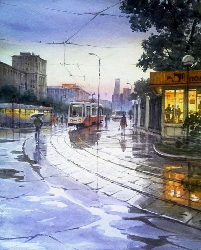 Акварельные пейзажи художника Ильи Горгоца, фото № 18