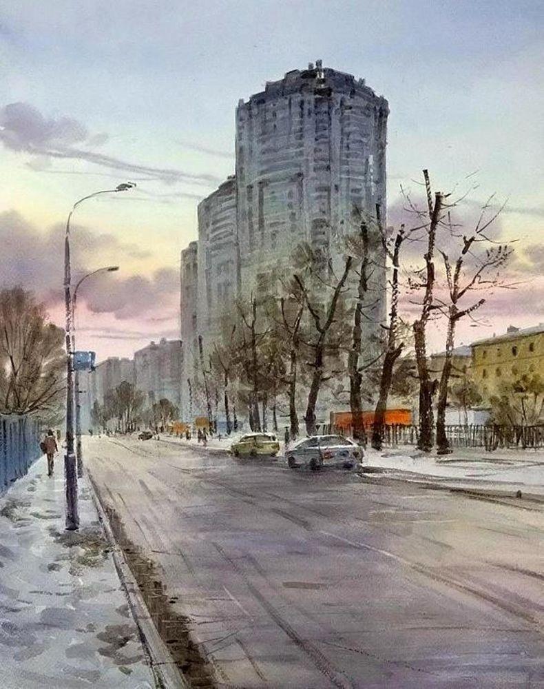 Акварельные пейзажи художника Ильи Горгоца, фото № 41