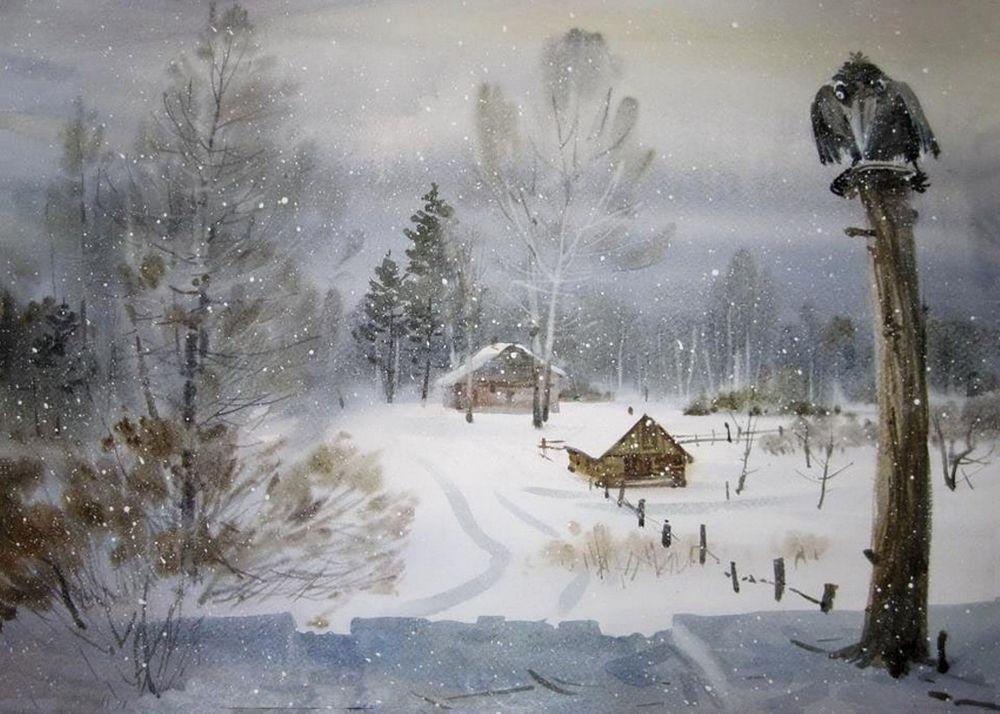 Акварельные пейзажи художника Ильи Горгоца, фото № 8