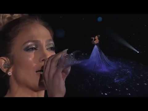 Магическое выступление Джей Ло в 6-тиметровом платье покорило зрителей