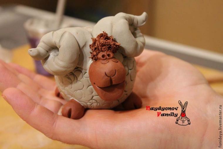 Новогодний мастер-класс «Барашество — няшество»: лепим из глины