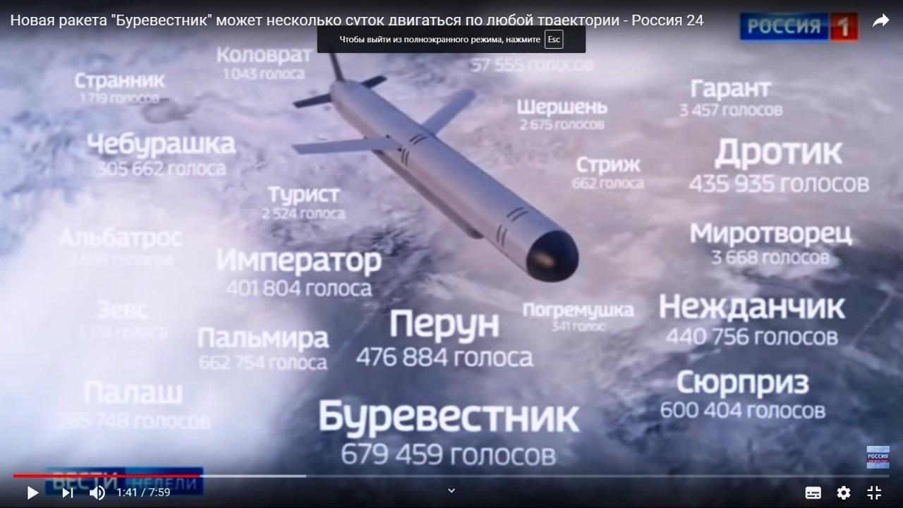 СМИ: испытания ядерной энергоустановки ракеты «Буревестник» прошли успешно
