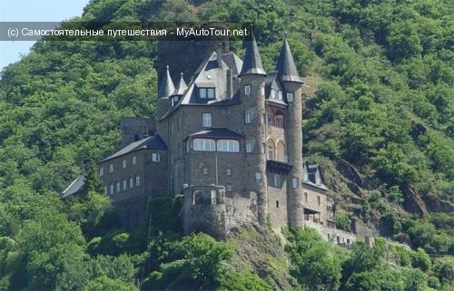 Рыцарский Замок Катц в долине Рейна