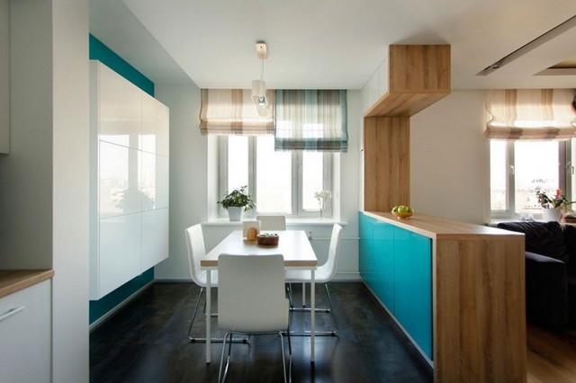 зона кухни в квартире студии фото
