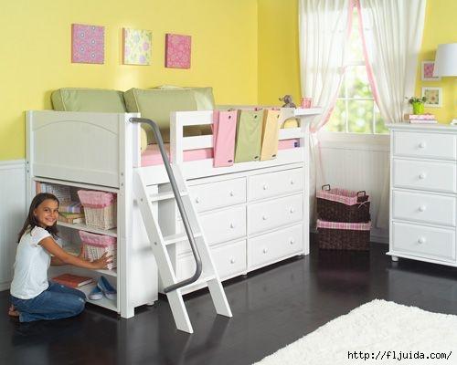 Как разгрузить пространство в спальне или детской