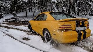 Что может Форд Мустанг по снегу??