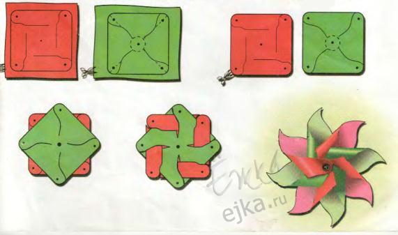 Самодельные вертушки - поделки для детей своими руками