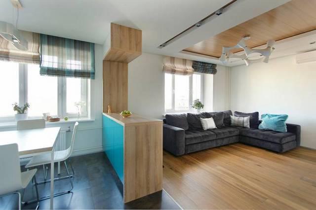 кухня в маленькой квартире студии фото