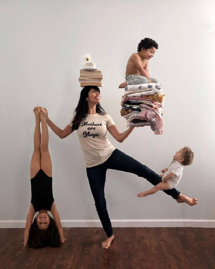Талантливая мама троих детей…