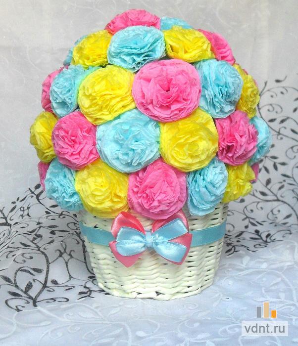 Как из салфетки сделать цветочки