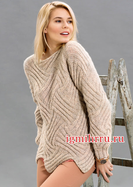 Два эффектных элегантных пуловера спицами