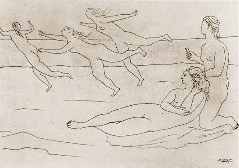 Пабло Пикассо. Купальщицы 1. 1921 год
