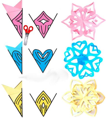 оригинальные снежинки из бумаги схемы