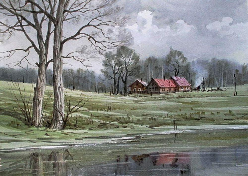 Акварельные пейзажи художника Ильи Горгоца, фото № 48