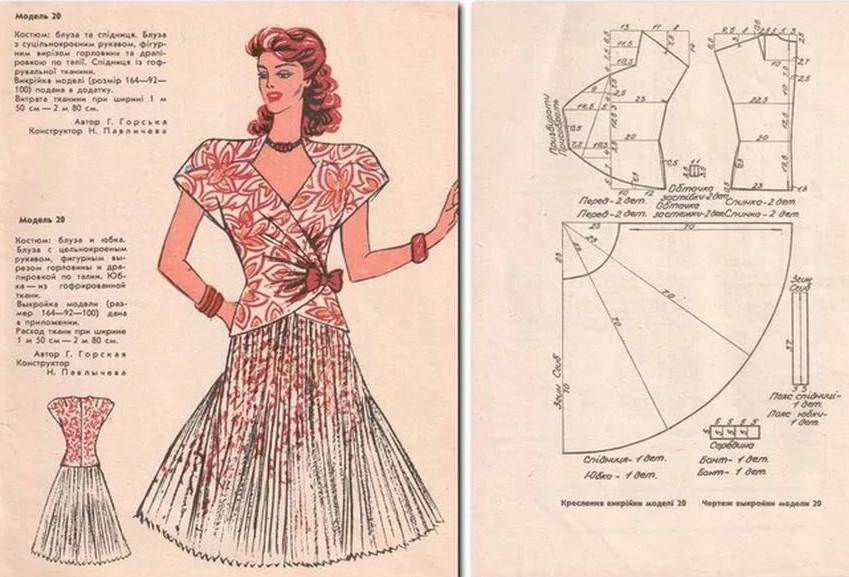 Выкройки из журналов 50-х