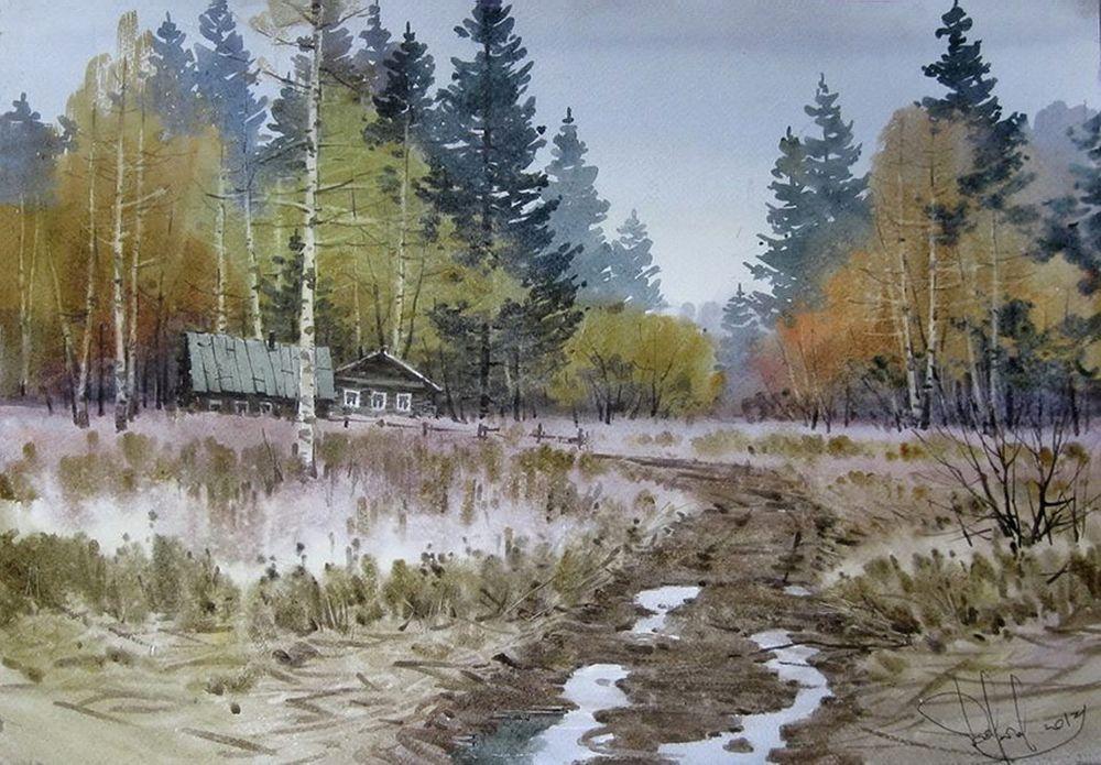 Акварельные пейзажи художника Ильи Горгоца, фото № 1