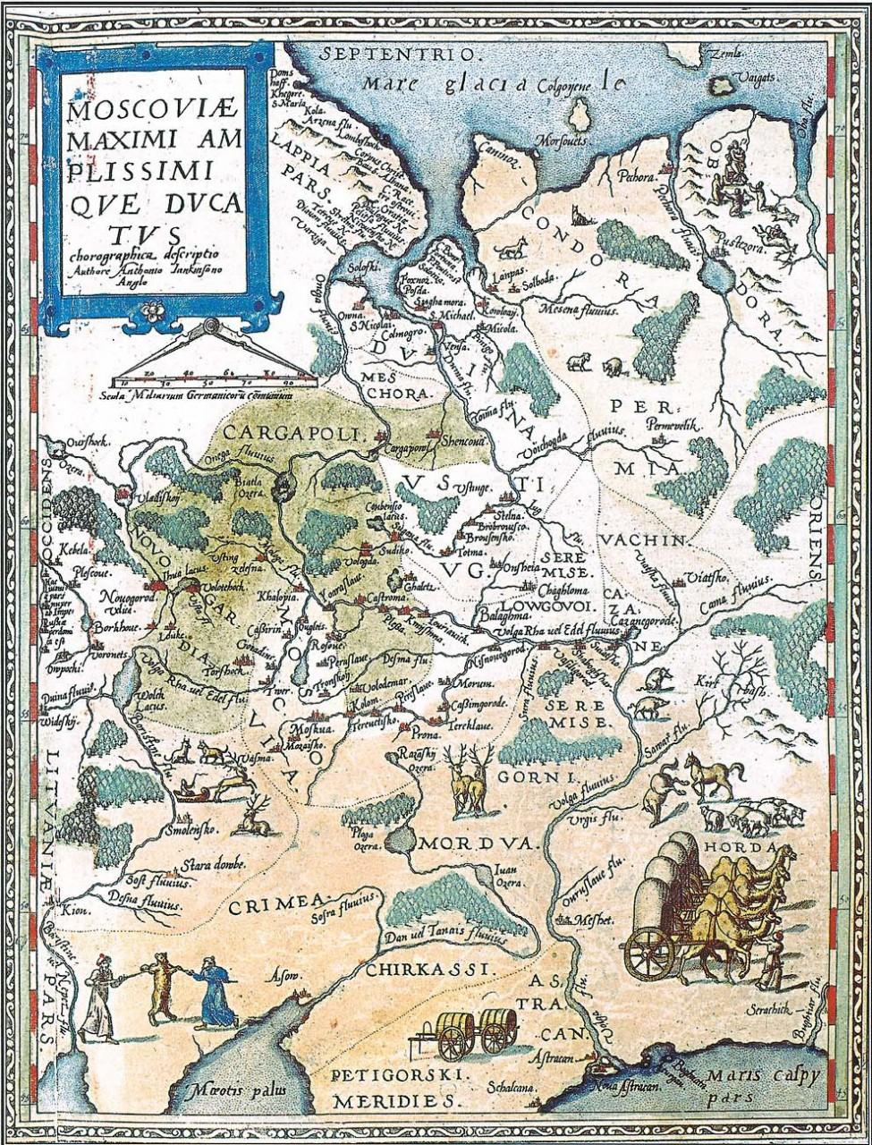 Карта 1593 года