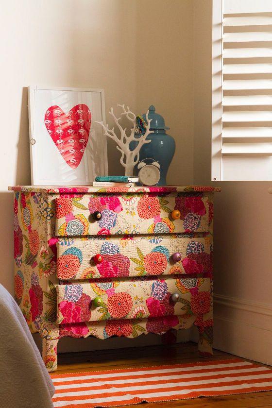 Текстильный декупаж мебели (подборка)
