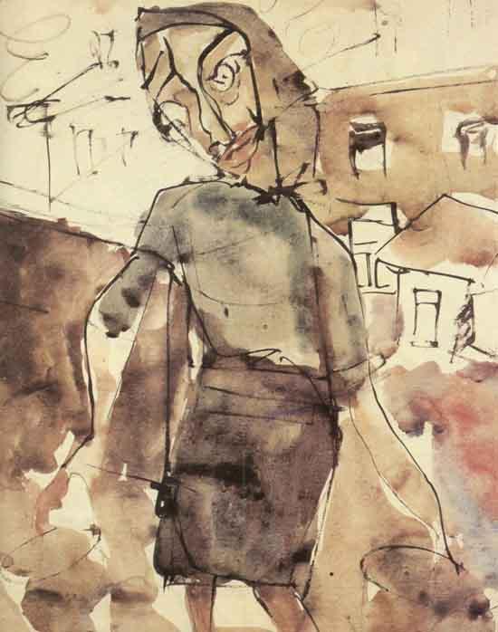 "Зверев А. ""Женщина с ведрами"", 1950"