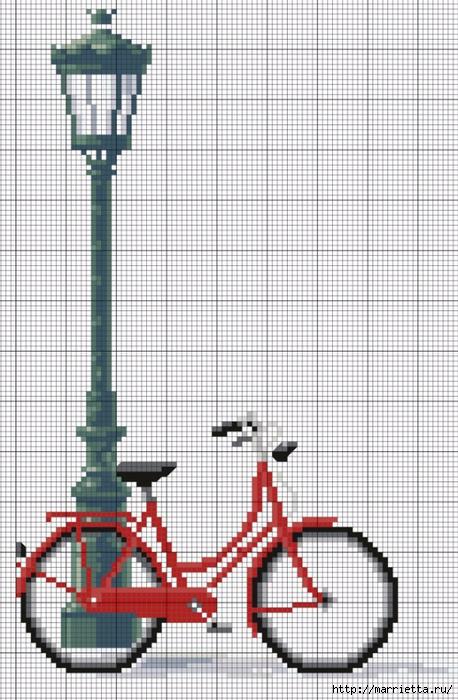 Вышиваем велосипед. Идеи со схемами (45) (458x700, 279Kb)