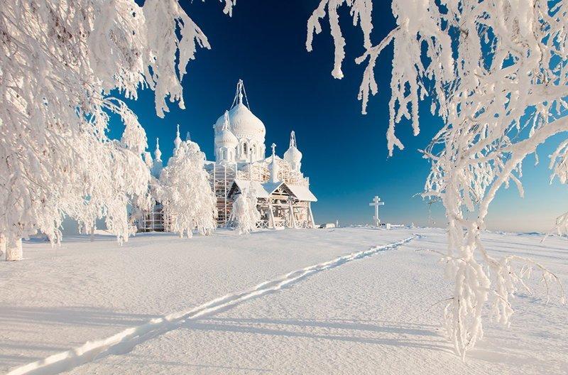 Белогорский монастырь зимой. Пермский край зима, красота, природа, россия, фото