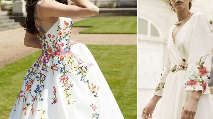 платья из батиста с вышивкой