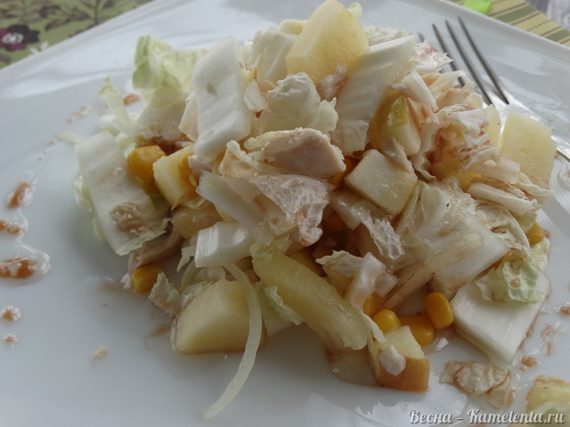 Рецепт кисло-сладкого салата из пекинской капусты
