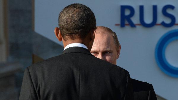 Президент России Владимир Путин и президент Соединенных Штатов Америки Барак Обама, архивное фото