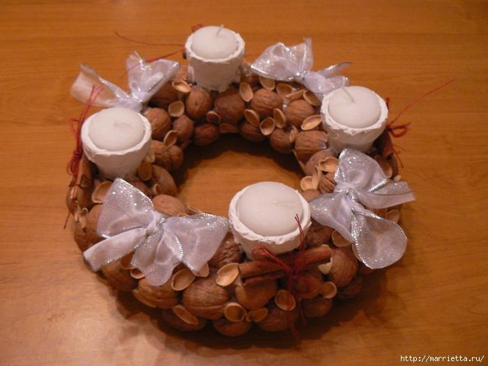 рождественский венок из грецких орехов (13) (700x525, 283Kb)