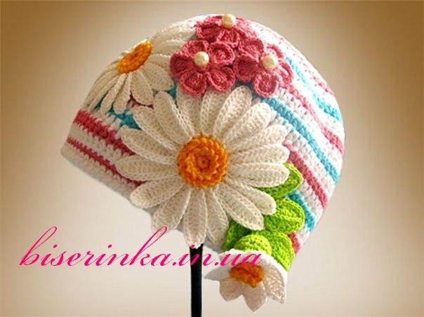 Детская шапочка «Ромашка»