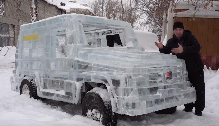 «Получилась чудо-тачка»: «Гелендваген» из шести тонн льда