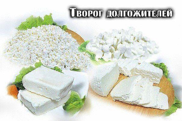 ТВОРОГ ДОЛГОЖИТЕЛЕЙ  Это пресный творог, он делается из молока и лимона....