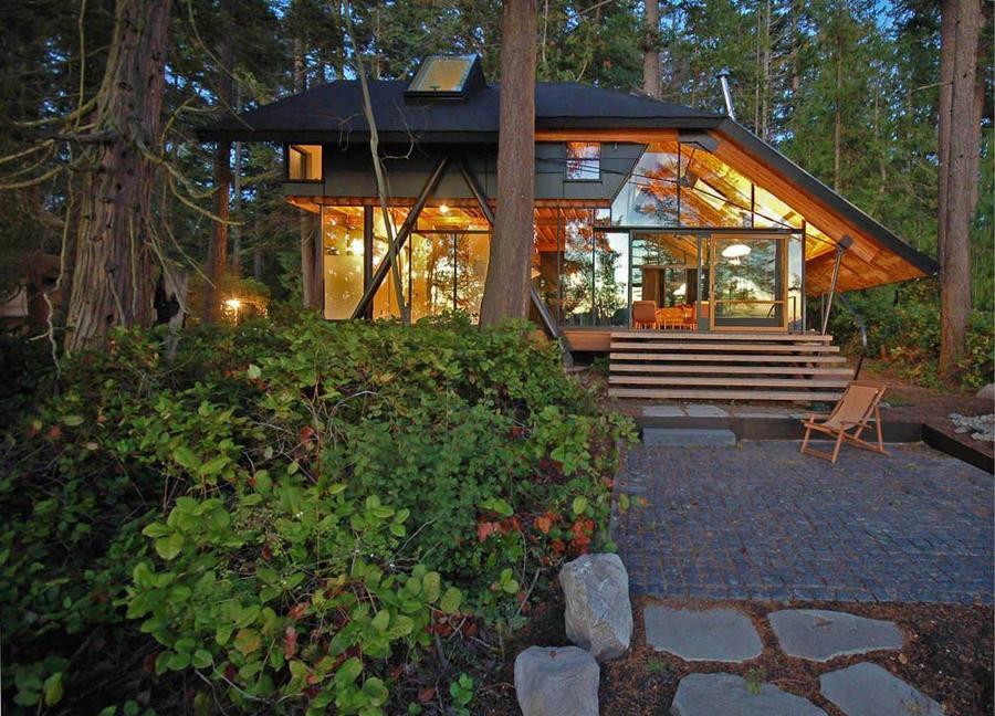 Фото красивых домов в лесу