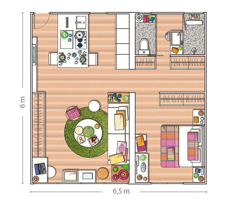 Двухкомнатная квартира из однокомнатной дизайн