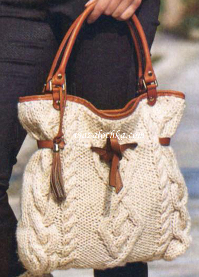 вязаные сумки спицами со схемами