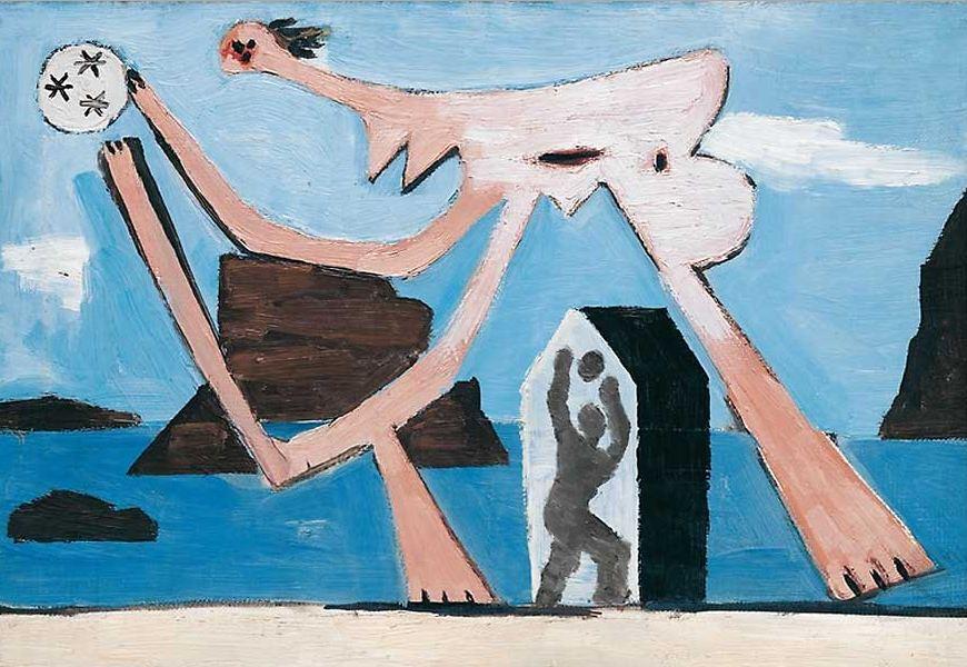 Пабло Пикассо. Купальщицы  с мячом 1. 1928 год