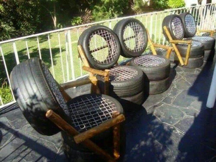 Оказывается, из старых шин можно сделать такое. Просто невероятно! интересно, покрышка, своими руками, сделай сам, фото
