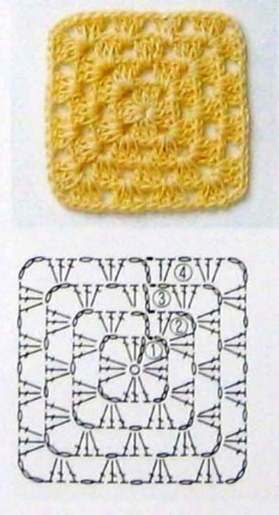 Как связать плед квадратами от