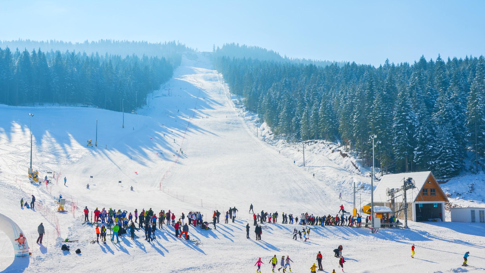 В Равной Планине около 12 км лыжных трасс