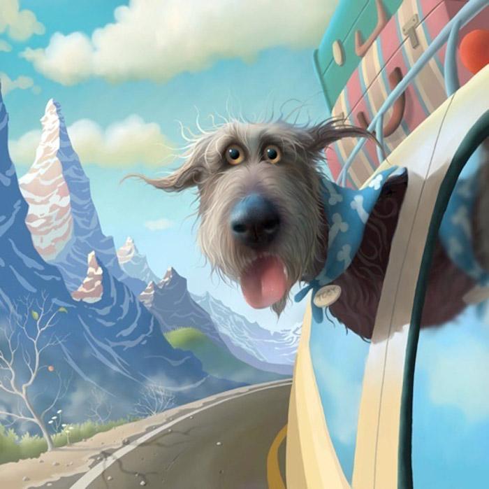 Забавные иллюстрации британского художника и их главнй герой — добрейший пес Тоби. Ну как в него не влюбиться?!