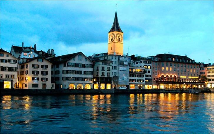вечерний Цюрих