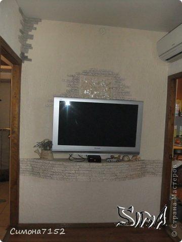 Мастер-класс Папье-маше Процесс декорирования стены камнем из бумаги Бумага фото 1