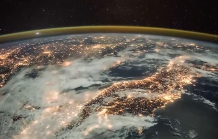 Грандиозное видео из космоса.  Как наступает рассвет на Земле