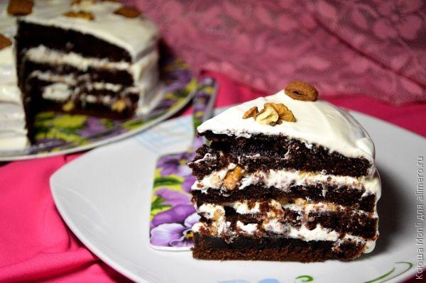 Заварной торт на кипятке в мультиварке
