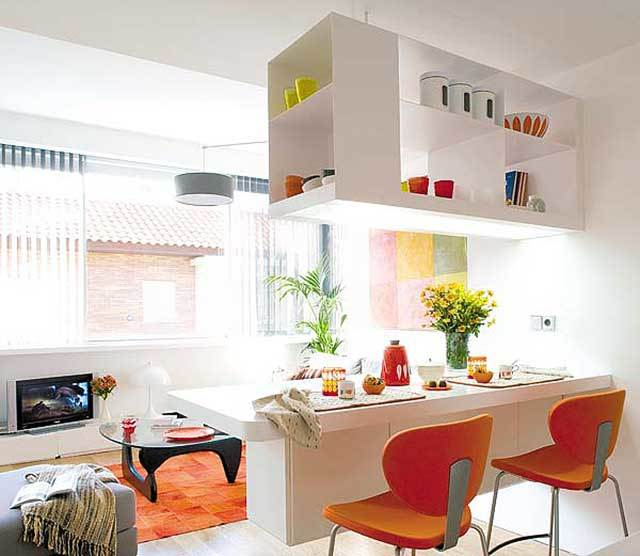 кухни в квартире студии с барной