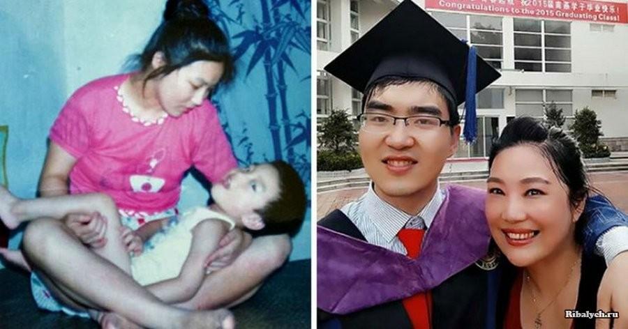 Мать-одиночка не отказалась от сына-инвалида, и теперь он в Гарварде